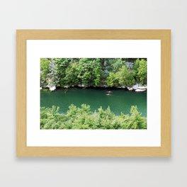 Kayaking the Mohonk Reserve Framed Art Print