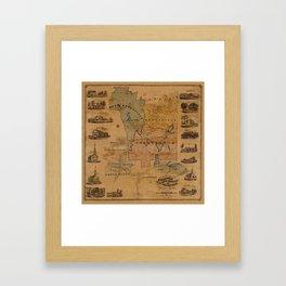 Map Of Brookfield 1855 Framed Art Print