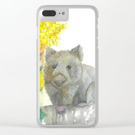 Wattle and a Wombat Clear iPhone Case