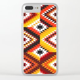 Colorful patchwork mosaic, oriental kilim rug Clear iPhone Case