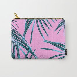 Tropical Palm Leaves Dream #2 #tropical #decor #art #society6 Carry-All Pouch