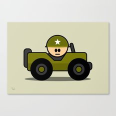 Little Soldier Jeep Military Art, Military Wall Art for Boys Room Nursery Decor Canvas Print