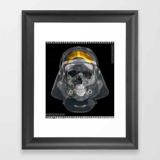 Vader Xray Framed Art Print By Vin Zzep Society6