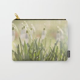 Spring is ringing - Snowdrop Snowdrops Carry-All Pouch