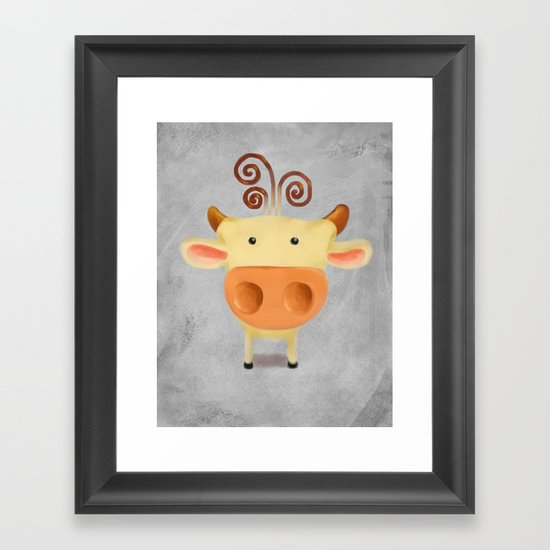 little cow  Framed Art Print