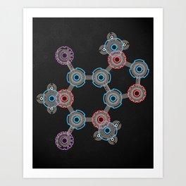 Caffeinated Circuitry Molecule Art Print