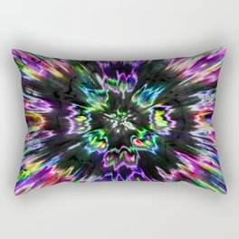 Colorful Tie Dye Abstract Rectangular Pillow