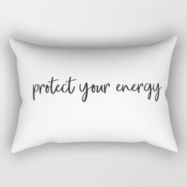 Protect your energy Rectangular Pillow