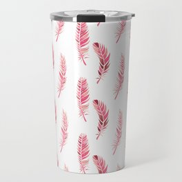 Watercolour Feathers - Coral, Blush and Rose Gold Travel Mug