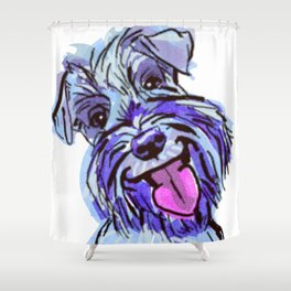 The Smiley Schnauzer Dog Love of my Life! Shower Curtain