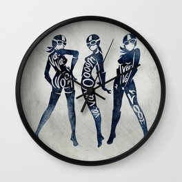 "Va-Va-Voom ""Elsa"" Motorcycle Pin Up Girl Wall Clock"