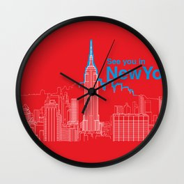 See you in New York Wall Clock