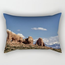 Between Two Worlds - Arches National Park Rectangular Pillow