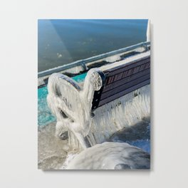 Cold day on Dunkirk Pier Metal Print