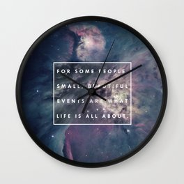 What Life Is All About - Doctor Who Wall Clock