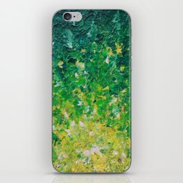 LAKE GRASS - Original Acrylic Abstract Painting Lake Seaweed Hunter Forest Kelly Green Water Lovely iPhone Skin