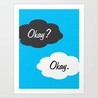 okay Art Prints featuring Okay by JDODesign