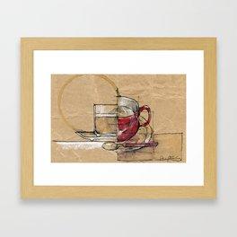 Red Mug Framed Art Print