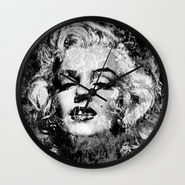 MARILYN (BLACK & WHITE VERSION) Wall Clock