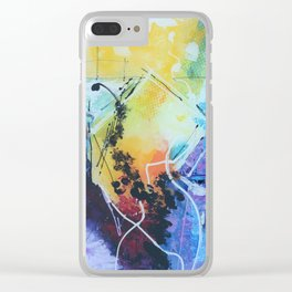 Harmony colourful  abstract artwork Clear iPhone Case