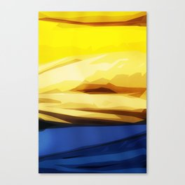 Sunny Seaside Mountains Canvas Print