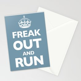 Keep Calm and Carry On Parody Blue Stationery Cards