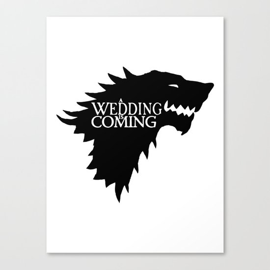 A Wedding Is Coming Canvas Print