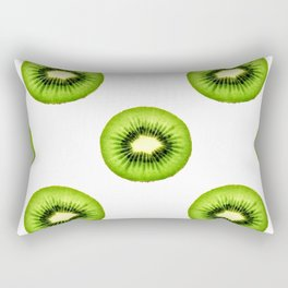 Kiwi Fruit Slice Rectangular Pillow