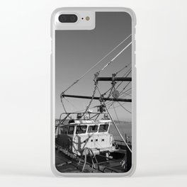 Trawler Rigging Donegal bw Clear iPhone Case