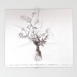 A bouquet of Cow parsley Throw Blanket
