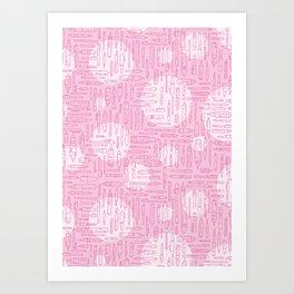 Pink Pens Art Print