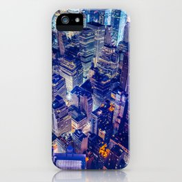 New York city night color iPhone Case