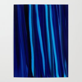 Stripes  - Ocean blues and black Poster