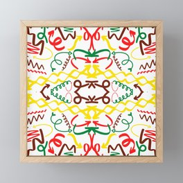 Kaleidoscope arrows Framed Mini Art Print