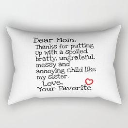Dear Mom (Sister) Rectangular Pillow
