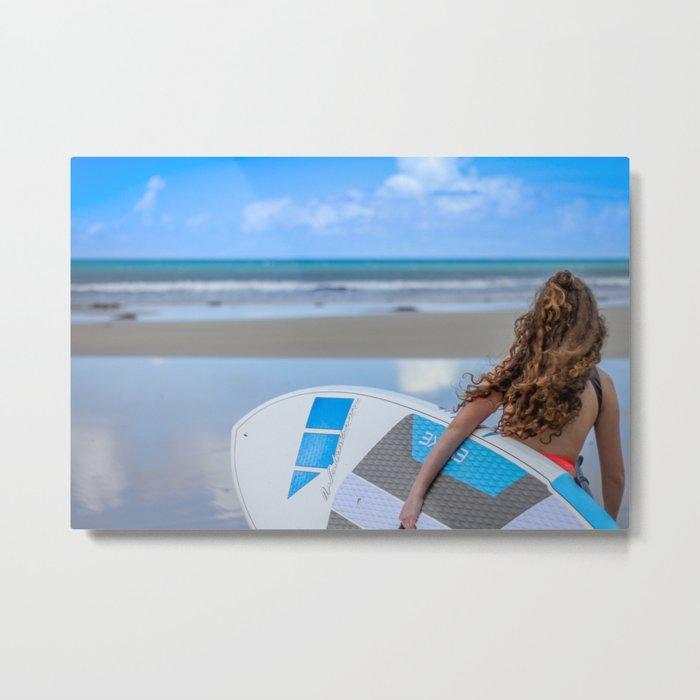 Walkerville Paddleboard Surf Beach Metal Print