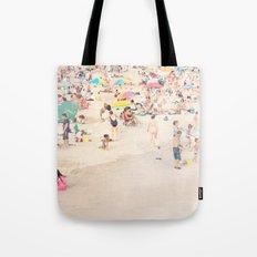 Beach Crowd Tote Bag