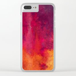 Colorful Thoughts 01 Clear iPhone Case