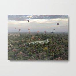 Balloons over Bagan Metal Print