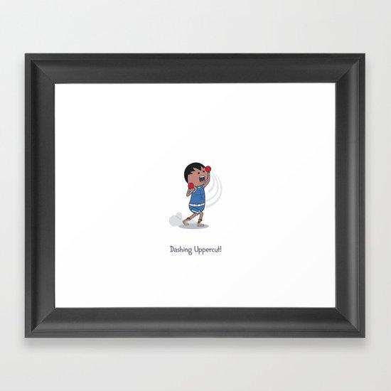 Dashing Uppercut Framed Art Print