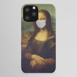 Mona Lisa with Respirator Mask iPhone Case