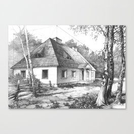 Traditional Polish Mansion Canvas Print