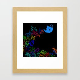 Tea series: Magic teapot Framed Art Print