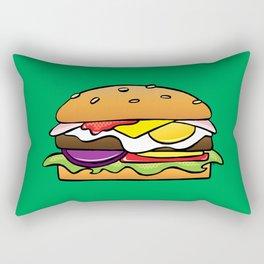 Aussie Burger on Green Rectangular Pillow