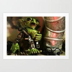 Goblin Junkyard Steamborg Art Print
