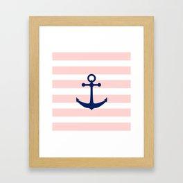 AFE Nautical Navy Ship Anchor Framed Art Print