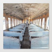 train Canvas Prints featuring Train by create.mojo