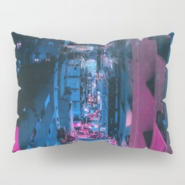 Pink face in the city Pillow Sham