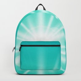 turquoise and light effect Backpack