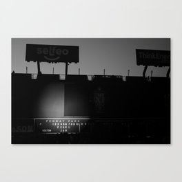 Green Monster - PearlJam - Fenway (Black & White) Canvas Print